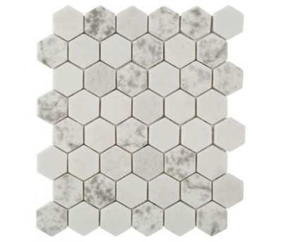 Malla blanco - SERIE PRINT HEXAGON